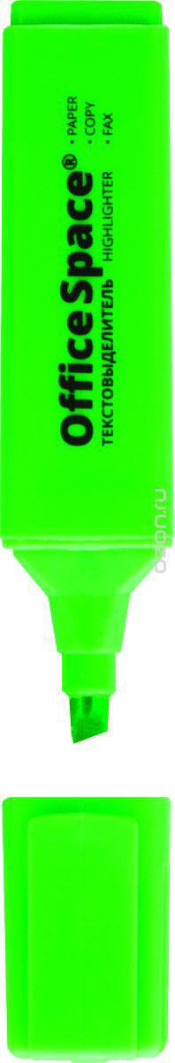OfficeSpace Текстовыделитель цвет зеленый H_262H_262Текстовыделитель OfficeSpace предназначен для выделения текста на всех типах бумаги. Удобный клип. Скошенный наконечник. Цвет колпачка и торцевого элемента соответствует цвету чернил. Имеет флуоресцентные зеленые чернила.