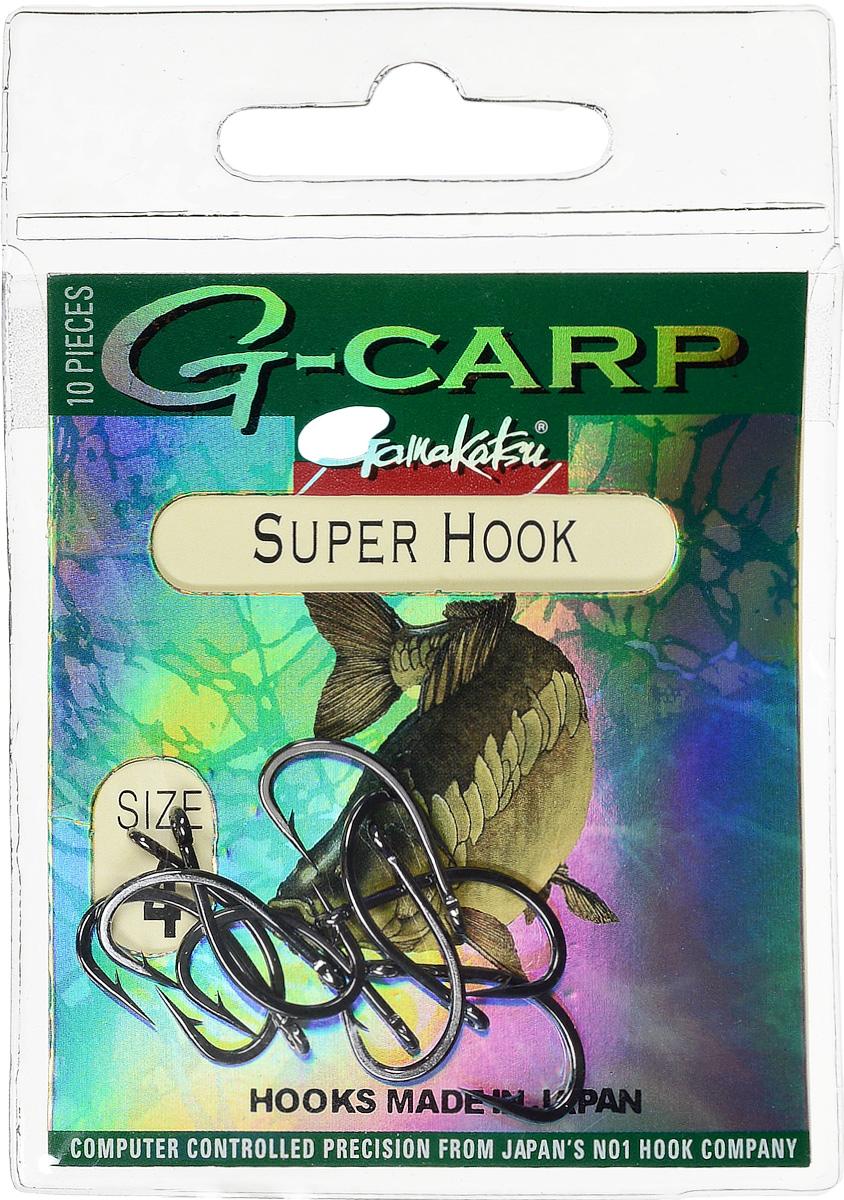 Крючок рыболовный Gamakatsu G-Carp. Super Hook, №4, 10 шт крючок gamakatsu bks 3510f carp 60см 2 d поводка 030 10шт