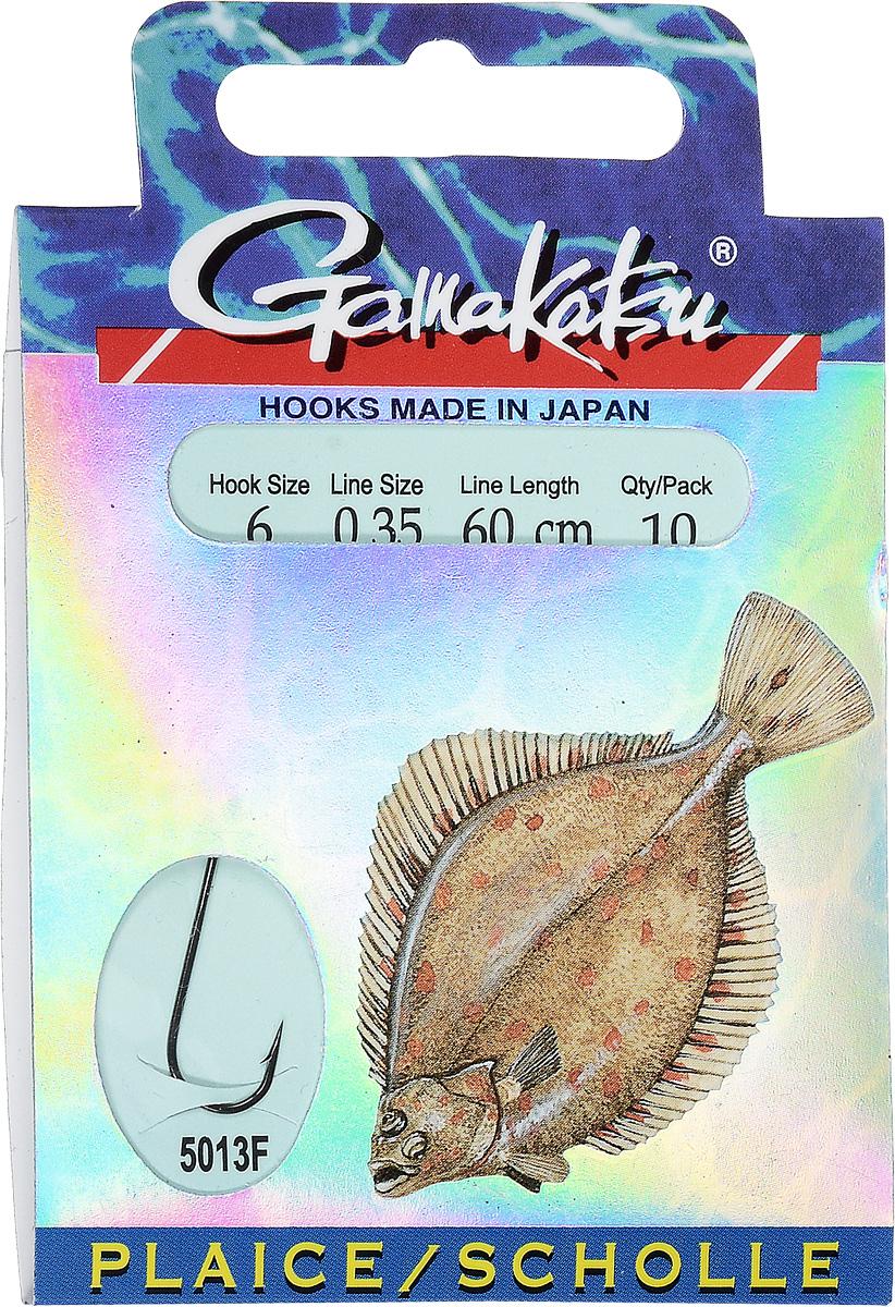 Крючок с поводком Gamakatsu BKD-5013F, длина поводка 60 см, толщина поводка 0,35 мм, размер крючка 6, 10 шт крючок gamakatsu bks 3510f carp 60см 2 d поводка 030 10шт