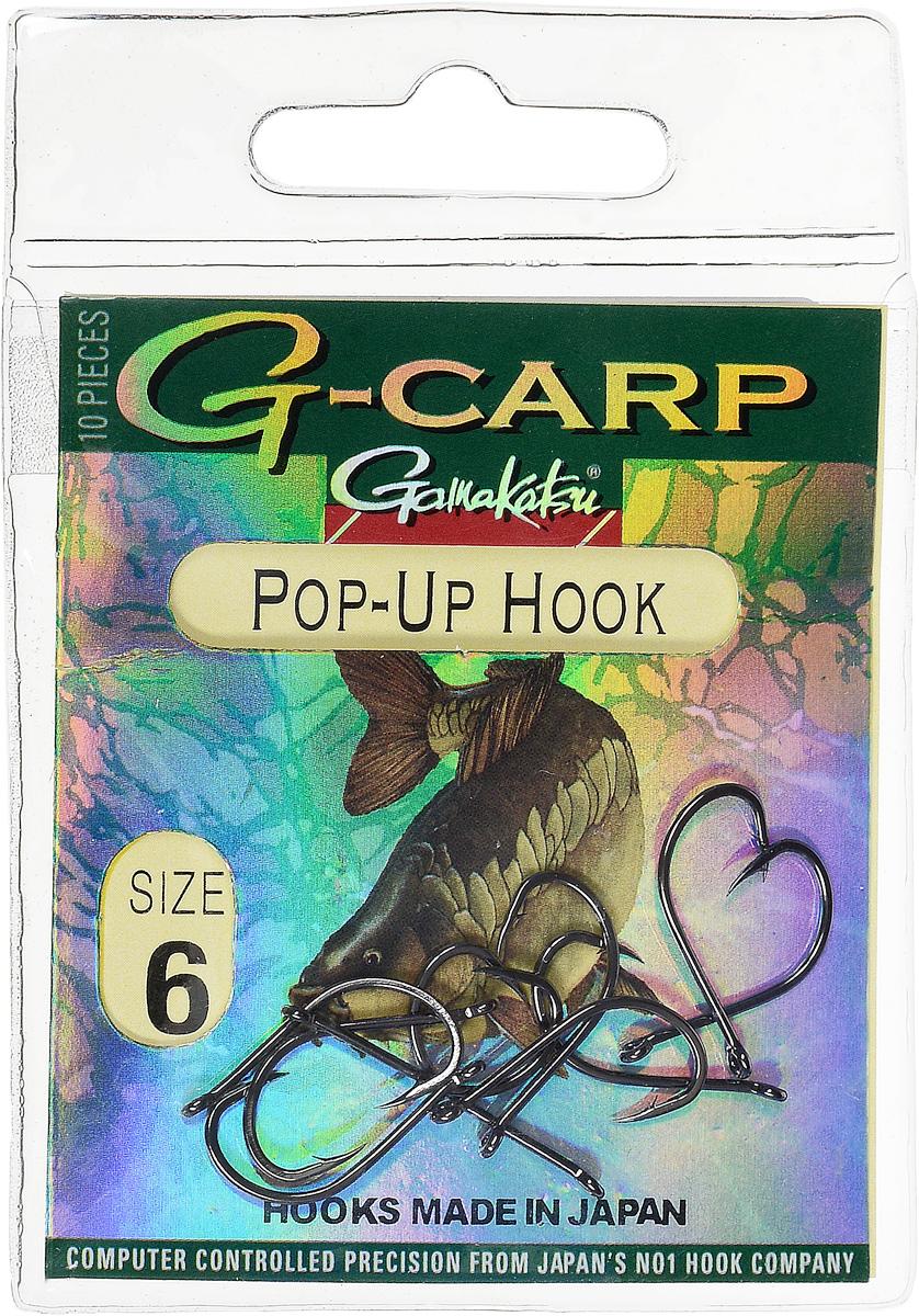 Крючок рыболовный Gamakatsu G-Carp. Pop-Up Hook, №6, 10 шт