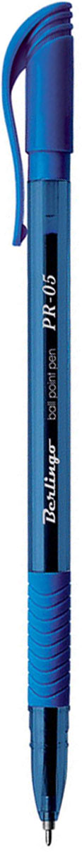 Berlingo Ручка шариковая PR-05 синяяCBp_50362Шариковая ручка Berlingo PR-05 синяя с прозрачным корпусом и пластиковым клипом. Мягкий резиновый грип препятствует скольжению пальцев и обеспечивает комфортное письмо. Диаметр пишущего узла - 0,5 мм. Чернила на масляной основе.