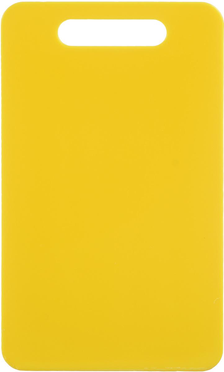 Доска разделочная Zeller, цвет: желтый, 24 х 14 х 0,4 см26130_желтыйДоска разделочная Zeller выполнена из прочного пищевого пластика. Идеально подходит для нарезки любых продуктов. Доска не впитывает запах продуктов, имеет антибактериальную поверхность, отличается долгим сроком службы. Ножи не затупляются при использовании. Доска снабжена удобной ручкой. Можно использовать обе стороны доски. Такая доска понравится любой хозяйке и будет отличным помощником на кухне. Можно мыть в посудомоечной машине.