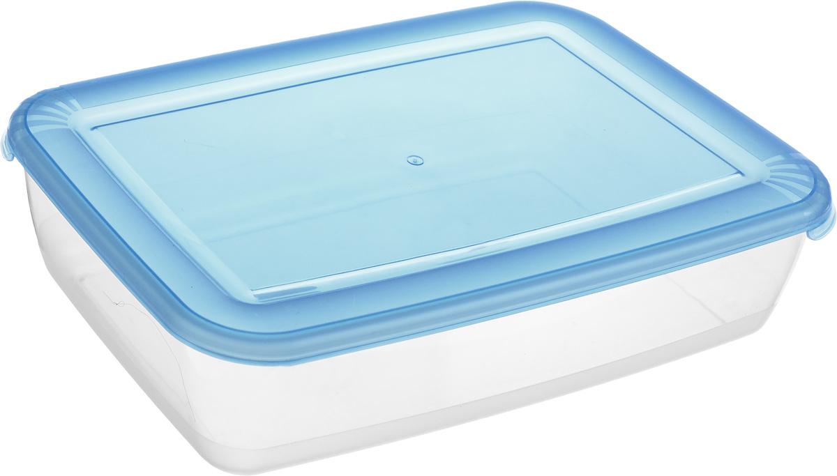 Контейнер Полимербыт Лайт, цвет: прозрачный, синий, 3 лС554_синий, прозрачныйКонтейнер Полимербыт Лайт прямоугольной формы, изготовленный из прочного полипропилена, предназначен специально для хранения пищевых продуктов. Крышка легко открывается и плотно закрывается. Контейнер устойчив к воздействию масел и жиров, легко моется. Прозрачные стенки позволяют видеть содержимое. Контейнер имеет возможность хранения продуктов глубокой заморозки, обладает высокой прочностью.Можно мыть в посудомоечной машине. Подходит для использования в микроволновых печах.