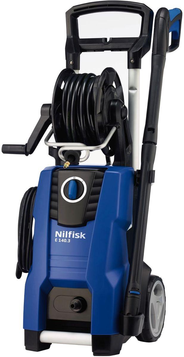 Минимойка Nilfisk E 140.3-9 X-TRA128470505Минимойка Nilfisk E 140.3-9 X-TRA снабжена металлической помпой и асинхронным двигателем, который обеспечивает высокую производительность. Устройством можно очищать автомобили 4x4, минивэны и конечно садовые дворы. Быстро и легко менять форсунки позволяет фирменная система CLICK & CLEAN.Прочная и надежная конструкция гарантирует долгий срок службы. Аксессуары можно размещать прямо на корпусе. Благодаря складывающейся телескопической рукоятке, удобно хранить и транспортировать мойку. Технические характеристики: Мощность: 2,1 кВт. Производительность: 500 л/ч. Длина шланга: 9 м.Maксимальное давление воды: 140 бар. Рабочее давление: 140 бар. Длина кабеля: 5 м.Maксимальная температура воды на входе: 60°С.Габариты: 34,5 x 39,5 x 90 см.Комплектация: - Шланг высокого давления (9 м); - Сопло Tornado PR; - Сопло Powerspeed; - Тележка; - Пенокомплект; - Катушка для шланга; - Пистолет со струйной трубкой.Как выбрать мойку высокого давления. Статья OZON Гид