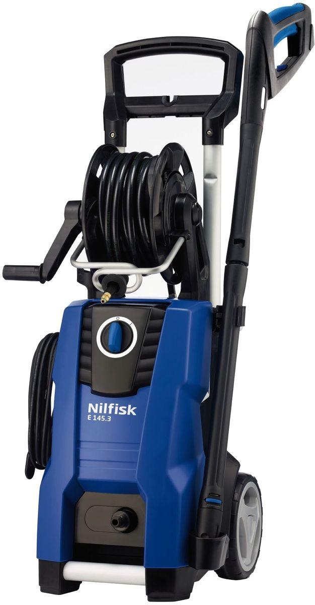 Минимойка Nilfisk E 145.3-10 X-TRA128470508Минимойка Nilfisk E 145.3-10 H X-TRA представляет собой высокопроизводительный и маневренный агрегат для очистки автомобилей, садового инвентаря, мебели и другого. Она проста в использовании и обладает высоким рабочим ресурсом благодаря надежной алюминиевой помпе. Для более удобной работы предусмотрена возможность хранения пистолета, сопла и распылителя пены на корпусе машины. Система CLICK&CLEAN обеспечивает быструю смену насадок.Технические характеристики:Мощность: 2,1 кВт. Производительность: 500 л/ч. Длина шланга: 10 м. Maксимальное давление воды: 145 бар. Длина кабеля: 5 м. Maксимальная температура воды на входе: 60°С. Габариты: 31,9 х 36,6 х 90 см.Комплектация: - моечная машина; - шланг Superflex 10 м; - сопло TORNADO RED2 LINES CLICK; - 2 насадки; - ручка G5; - флакон; - G4 пистолет.Как выбрать мойку высокого давления. Статья OZON Гид
