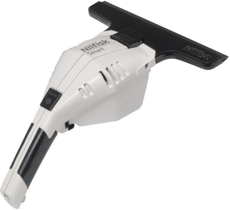 Бытовой стеклоочиститель Nilfisk SMART White18451176Новый аккумуляторный стеклоочиститель Nilfisk Smart обеспечивает мойку окон без разводов и справляется со своей работой очень быстро.Удобное устройство всасывает воду со стекла после мытья, не допуская подтеков грязной воды и разводов. Продуманный эргономичный дизайн позволяет легко мыть даже самые низкие подоконники и, если сравнивать с традиционными методами, мойка проходит заметно быстрее и проще. Аккумуляторный стеклоочиститель Nilfisk Smart также подходит для мойки зеркал и кафеля в домашнем хозяйстве. Это просто здорово.Особенности: Эргономичный дизайнЛегкий весКонтейнер для грязной воды 100млДлительное время работы аккумулятораЗажим для крепления к поясному ремню