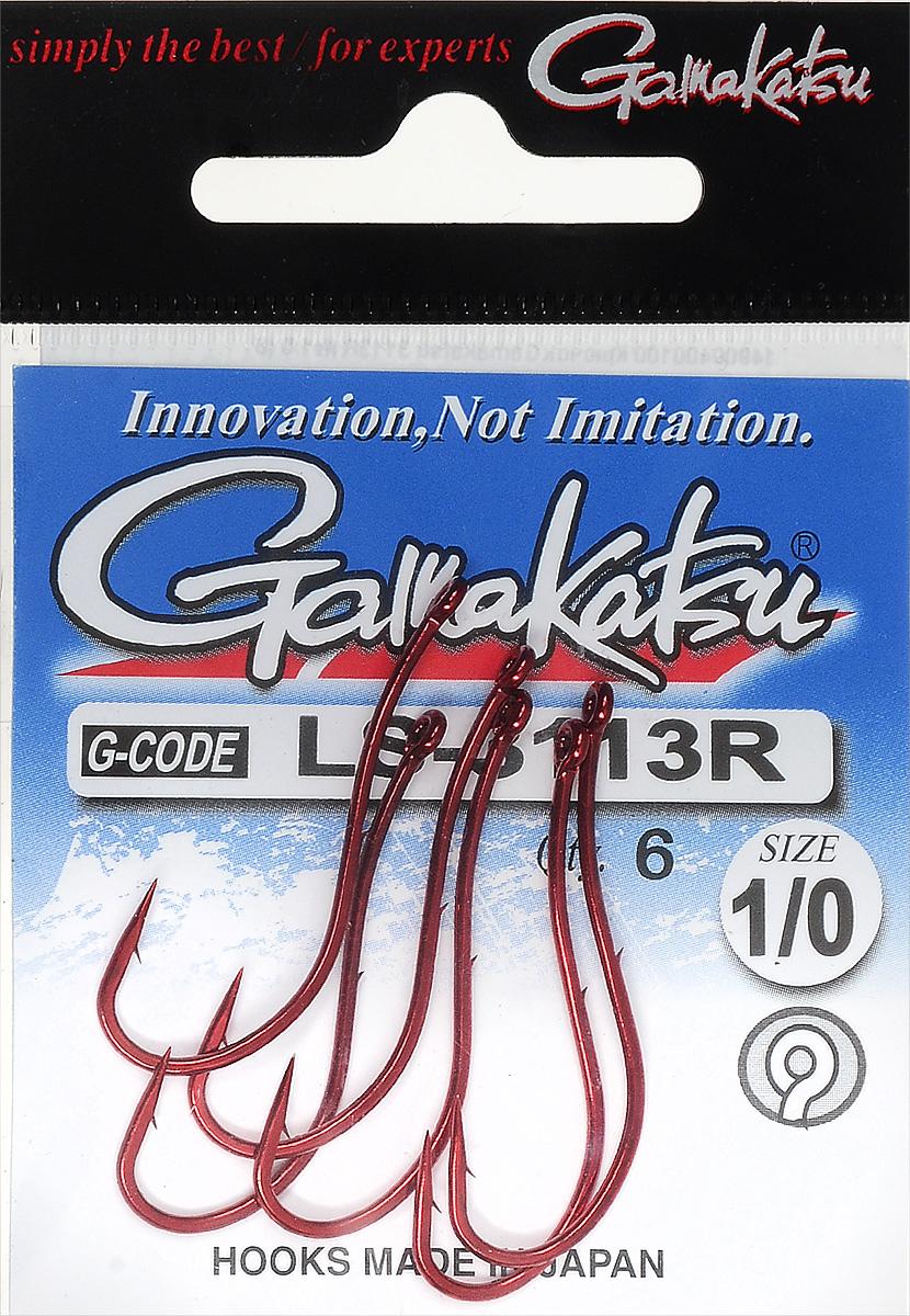 Крючок рыболовный Gamakatsu LS-3113R, размер 1/0, 6 шт14900400100Крючок Gamakatsu LS-3113R предназначен для ловли крупной рыбы. Изделие изготовлено из высококачественной и прочной стали. Крючок прекрасно справляется с любой рыбой как на море, так и на спокойной воде. Размер: 1/0.Количество: 6 шт. Вид головки: кольцо.