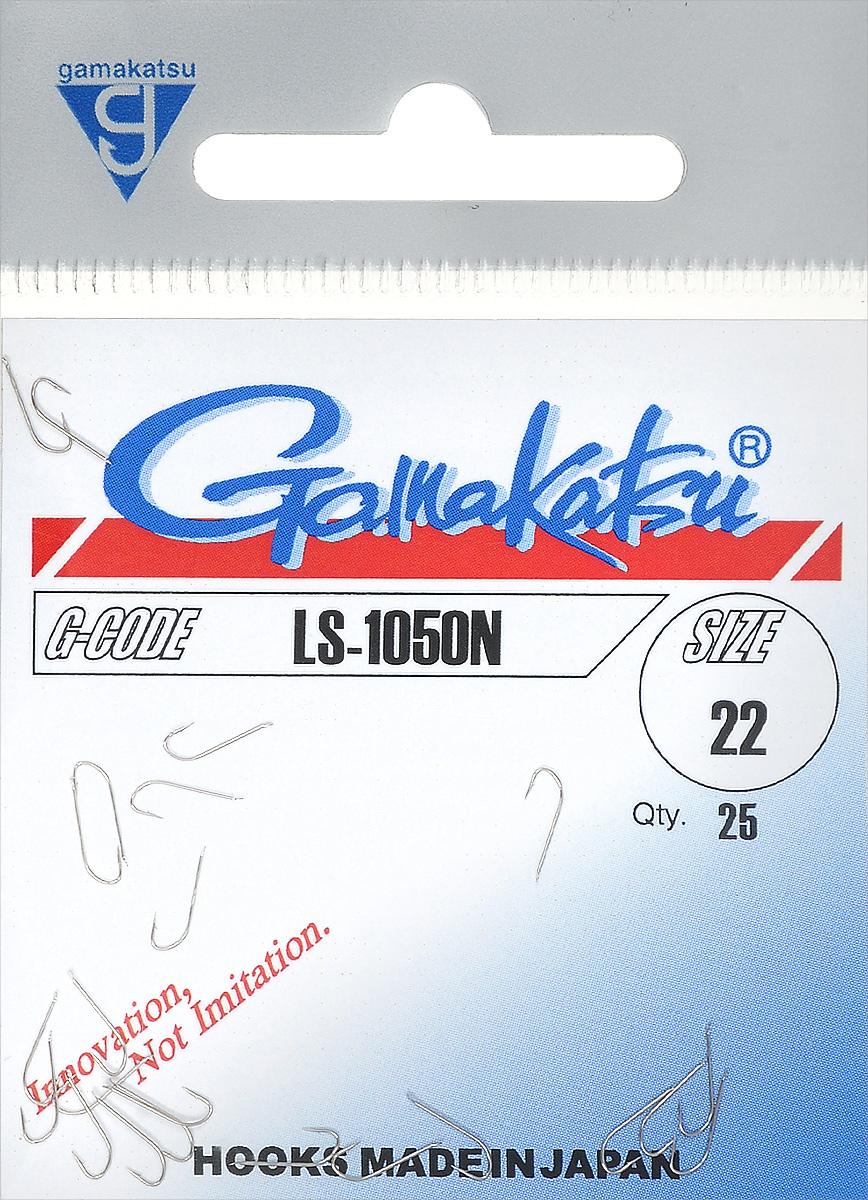 "Фото Крючок рыболовный Gamakatsu ""LS-1050N"", размер 22, 25 шт"