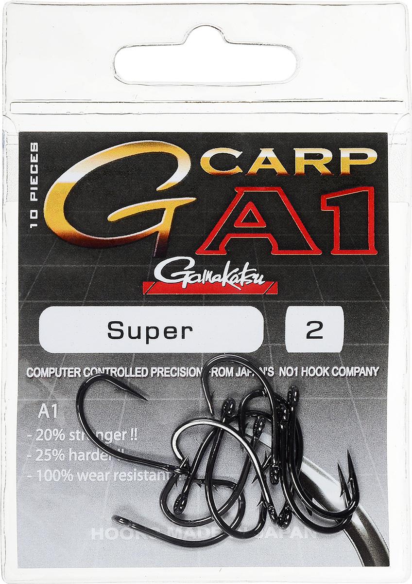 Крючок рыболовный Gamakatsu A1 G-Carp Super, размер 2, 10 шт крючок gamakatsu bks 3510f carp 60см 2 d поводка 030 10шт