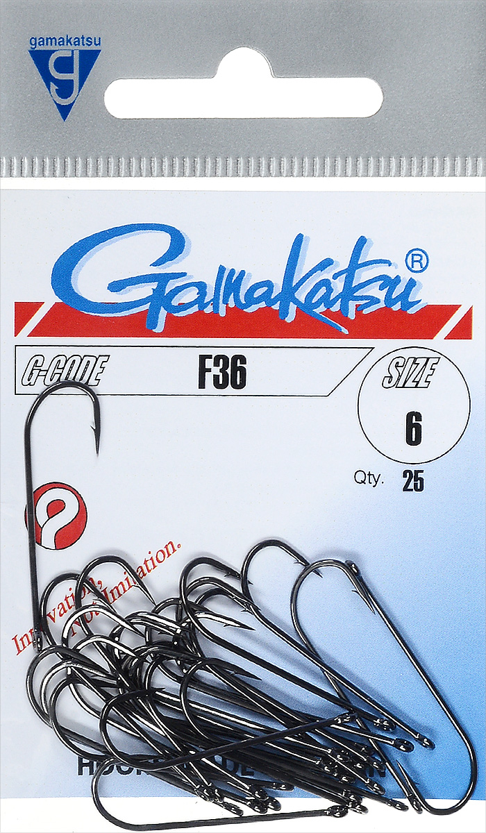 Крючок рыболовный Gamakatsu F36, размер 6, 25 шт