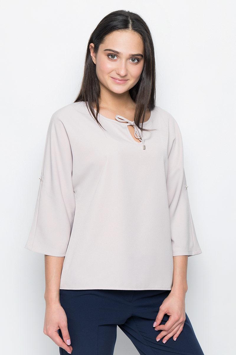 Блузка женская Finn Flare, цвет: светло-бежевый. B17-12065. Размер M (46) цена 2017
