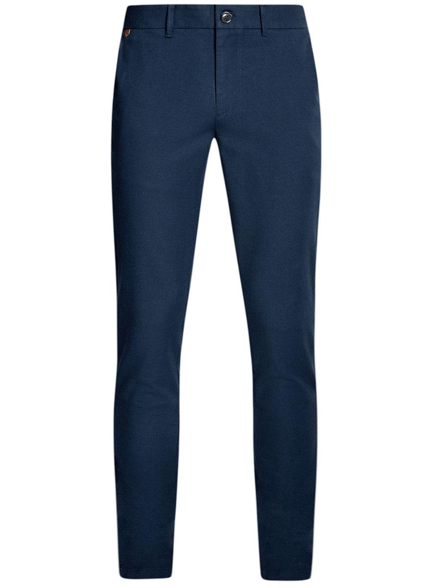 Брюки мужские oodji Lab, цвет: темно-синий, синий. 2L150096M/46242N/7975O. Размер 48-182 (56-182) брюки oodji oodji oo001ewjeg76