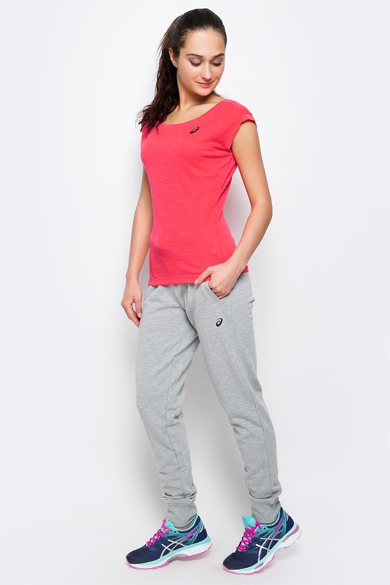 Футболка для фитнеса женская Asics Layering Top, цвет: ярко-розовый. 136042-0688. Размер S (42/44) футболка asics футболка layering top
