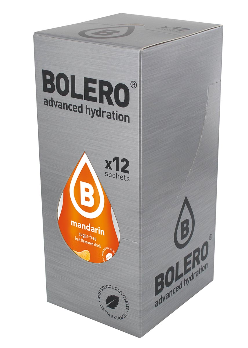 Напиток быстрорастворимый Bolero Mandarin / Мандарин, 9 г х 12 штЦБ-00003116Быстрорастворимый напиток предназначен для спортсменов, в период интенсивных тренировок в дополнение к основному рациону в соответствии с программой, разработанной для данных видов спорта.Каждый пакетик (9 г) рассчитан на приготовление 1,5-2 литра сока. Их также очень удобно носить с собой. Состав: без добавления ГМО. Не содержит глютен, без сахара.-Лимонная кислота, яблочная кислота, мальтодекстрин;- ароматические и вкусовые вещества;- L-аскорбиновая кислота.- натуральные ароматизаторы и подсластители: ацесульфам К, сукралоза,стевиогликозиды (экстракты стевии), регулятор кислотности: тринатрийцитрат.- разрыхлитель: трикальцийфосфат;- загустители: гуаровая камедь, гуммиарабик (аравийская камедь). Товар не является лекарственным средством. Товар не рекомендован для лиц младше 18 лет. Могут быть противопоказания иследует предварительно проконсультироваться со специалистом. Товар сертифицирован.Как повысить эффективность тренировок с помощью спортивного питания? Статья OZON Гид