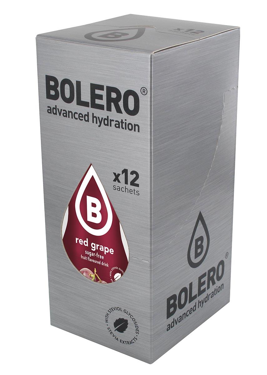 Напиток быстрорастворимый Bolero Red Grape / Красный виноград, 9 г х 12 штЦБ-00003122Быстрорастворимый напиток предназначен для спортсменов, в период интенсивных тренировок в дополнение к основному рациону в соответствии с программой, разработанной для данных видов спорта.Каждый пакетик (9 г) рассчитан на приготовление 1,5-2 литра сока. Их также очень удобно носить с собой. Состав: без добавления ГМО. Не содержит глютен, без сахара.-Лимонная кислота, яблочная кислота, мальтодекстрин;- ароматические и вкусовые вещества;- L-аскорбиновая кислота.- натуральные ароматизаторы и подсластители: ацесульфам К, сукралоза,стевиогликозиды (экстракты стевии), регулятор кислотности: тринатрийцитрат.- разрыхлитель: трикальцийфосфат;- загустители: гуаровая камедь, гуммиарабик (аравийская камедь). Товар не является лекарственным средством. Товар не рекомендован для лиц младше 18 лет. Могут быть противопоказания иследует предварительно проконсультироваться со специалистом. Товар сертифицирован.Как повысить эффективность тренировок с помощью спортивного питания? Статья OZON Гид