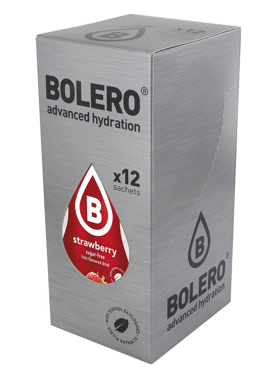 Напиток быстрорастворимый Bolero Strawberry / Клубника, 9 г х 12 штЦБ-00003132Быстрорастворимый напиток предназначен для спортсменов, в период интенсивных тренировок в дополнение к основному рациону в соответствии с программой, разработанной для данных видов спорта. Каждый пакетик (9 г) рассчитан на приготовление 1,5-2 литра сока. Их также очень удобно носить с собой. Состав: без добавления ГМО. Не содержит глютен, без сахара. -Лимонная кислота, яблочная кислота, мальтодекстрин;- ароматические и вкусовые вещества; - L-аскорбиновая кислота. - натуральные ароматизаторы и подсластители: ацесульфам К, сукралоза,стевиогликозиды (экстракты стевии), регулятор кислотности: тринатрийцитрат. - разрыхлитель: трикальцийфосфат; - загустители: гуаровая камедь, гуммиарабик (аравийская камедь). Товар не является лекарственным средством. Товар не рекомендован для лиц младше 18 лет. Могут быть противопоказания иследует предварительно проконсультироваться со специалистом. Товар сертифицирован.Как повысить эффективность тренировок с помощью спортивного питания? Статья OZON Гид