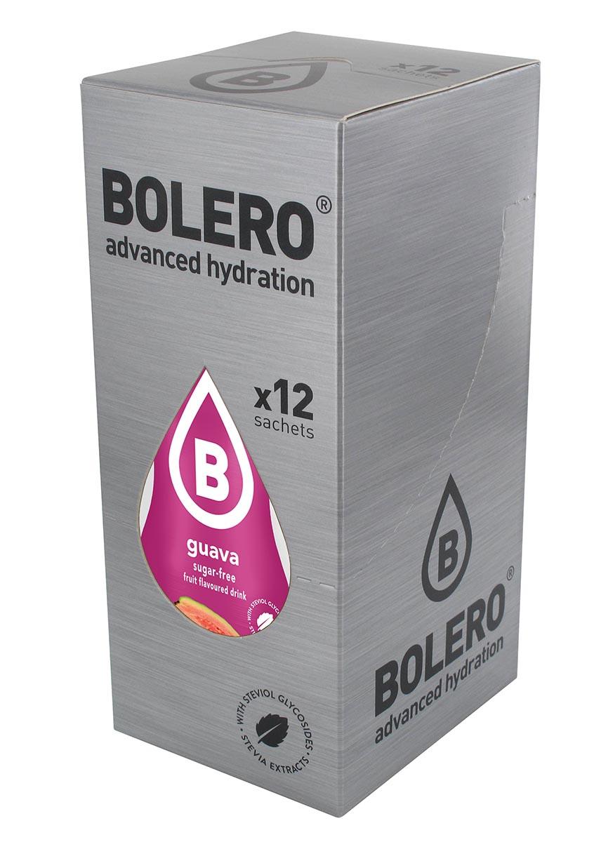 Напиток быстрорастворимый Bolero Guava / Гуава, 9 г х 12 штЦБ-00003141Быстрорастворимый напиток предназначен для спортсменов, в период интенсивных тренировок в дополнение к основному рациону в соответствии с программой, разработанной для данных видов спорта. Каждый пакетик (9 г) рассчитан на приготовление 1,5-2 литра сока. Их также очень удобно носить с собой. Состав: без добавления ГМО. Не содержит глютен, без сахара. -Лимонная кислота, яблочная кислота, мальтодекстрин;- ароматические и вкусовые вещества; - L-аскорбиновая кислота. - натуральные ароматизаторы и подсластители: ацесульфам К, сукралоза,стевиогликозиды (экстракты стевии), регулятор кислотности: тринатрийцитрат. - разрыхлитель: трикальцийфосфат; - загустители: гуаровая камедь, гуммиарабик (аравийская камедь). Товар не является лекарственным средством. Товар не рекомендован для лиц младше 18 лет. Могут быть противопоказания иследует предварительно проконсультироваться со специалистом. Товар сертифицирован.Как повысить эффективность тренировок с помощью спортивного питания? Статья OZON Гид