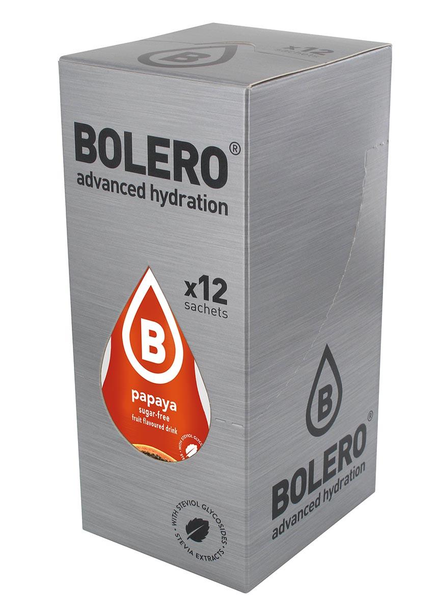 Напиток быстрорастворимый Bolero Papaya / Папайа, 9 г х 12 штЦБ-00003144Быстрорастворимый напиток предназначен для спортсменов, в период интенсивных тренировок в дополнение к основному рациону в соответствии с программой, разработанной для данных видов спорта. Каждый пакетик (9 г) рассчитан на приготовление 1,5-2 литра сока. Их также очень удобно носить с собой. Состав: без добавления ГМО. Не содержит глютен, без сахара. -Лимонная кислота, яблочная кислота, мальтодекстрин;- ароматические и вкусовые вещества; - L-аскорбиновая кислота. - натуральные ароматизаторы и подсластители: ацесульфам К, сукралоза,стевиогликозиды (экстракты стевии), регулятор кислотности: тринатрийцитрат. - разрыхлитель: трикальцийфосфат; - загустители: гуаровая камедь, гуммиарабик (аравийская камедь). Товар не является лекарственным средством. Товар не рекомендован для лиц младше 18 лет. Могут быть противопоказания иследует предварительно проконсультироваться со специалистом. Товар сертифицирован.Как повысить эффективность тренировок с помощью спортивного питания? Статья OZON Гид