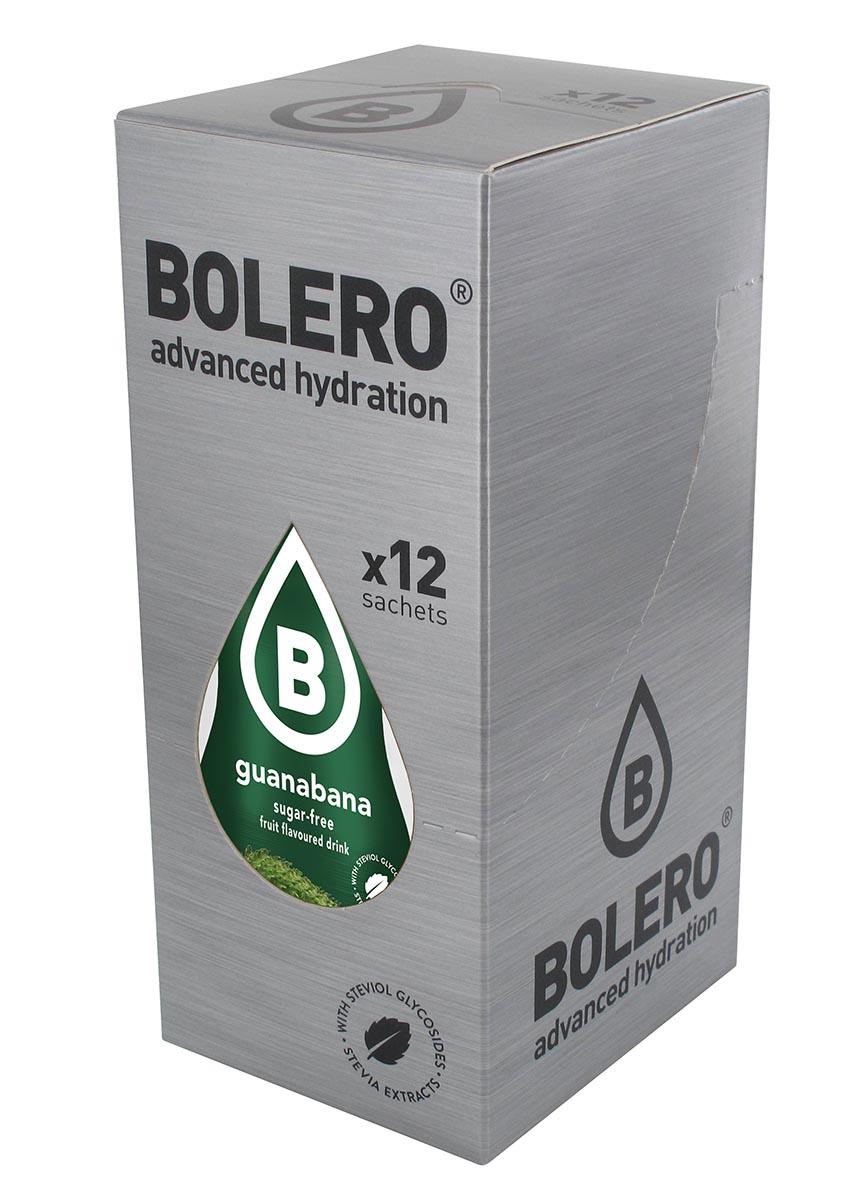 Напиток быстрорастворимый Bolero Guanabana / Гуанабана, 9 г х 12 штЦБ-00003146Быстрорастворимый напиток предназначен для спортсменов, в период интенсивных тренировок в дополнение к основному рациону в соответствии с программой, разработанной для данных видов спорта.Каждый пакетик (9 г) рассчитан на приготовление 1,5-2 литра сока. Их также очень удобно носить с собой. Состав: без добавления ГМО. Не содержит глютен, без сахара.-Лимонная кислота, яблочная кислота, мальтодекстрин;- ароматические и вкусовые вещества;- L-аскорбиновая кислота.- натуральные ароматизаторы и подсластители: ацесульфам К, сукралоза,стевиогликозиды (экстракты стевии), регулятор кислотности: тринатрийцитрат.- разрыхлитель: трикальцийфосфат;- загустители: гуаровая камедь, гуммиарабик (аравийская камедь). Товар не является лекарственным средством. Товар не рекомендован для лиц младше 18 лет. Могут быть противопоказания иследует предварительно проконсультироваться со специалистом. Товар сертифицирован.Как повысить эффективность тренировок с помощью спортивного питания? Статья OZON Гид