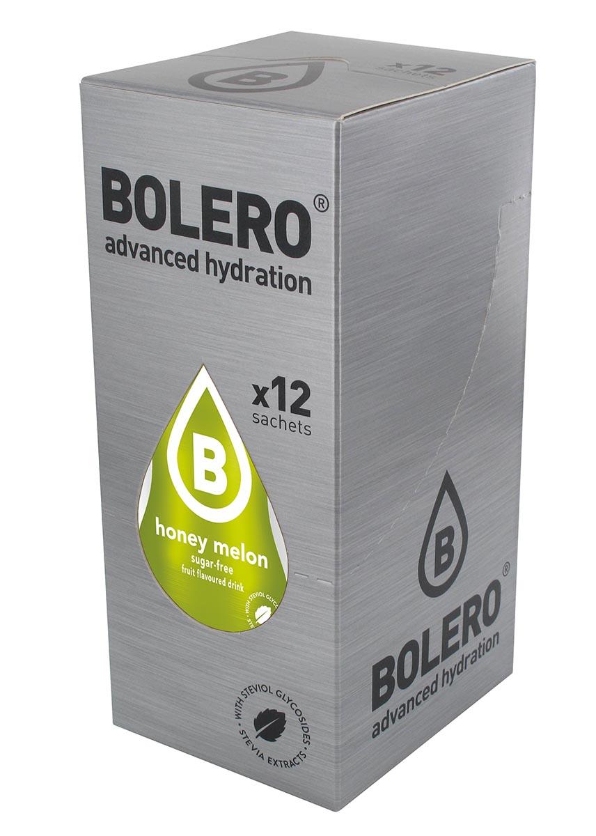 Напиток быстрорастворимый Bolero Honey Melon / Сладкая дыня, 9 г х 12 штЦБ-00003147Быстрорастворимый напиток предназначен для спортсменов, в период интенсивных тренировок в дополнение к основному рациону в соответствии с программой, разработанной для данных видов спорта. Каждый пакетик (9 г) рассчитан на приготовление 1,5-2 литра сока. Их также очень удобно носить с собой. Состав: без добавления ГМО. Не содержит глютен, без сахара. -Лимонная кислота, яблочная кислота, мальтодекстрин;- ароматические и вкусовые вещества; - L-аскорбиновая кислота. - натуральные ароматизаторы и подсластители: ацесульфам К, сукралоза,стевиогликозиды (экстракты стевии), регулятор кислотности: тринатрийцитрат. - разрыхлитель: трикальцийфосфат; - загустители: гуаровая камедь, гуммиарабик (аравийская камедь). Товар не является лекарственным средством. Товар не рекомендован для лиц младше 18 лет. Могут быть противопоказания иследует предварительно проконсультироваться со специалистом. Товар сертифицирован.Как повысить эффективность тренировок с помощью спортивного питания? Статья OZON Гид