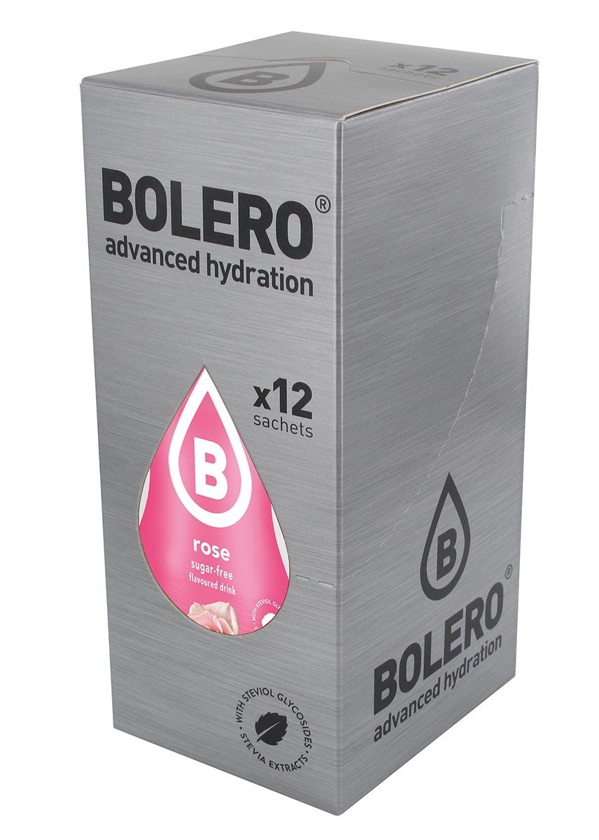 Напиток быстрорастворимый Bolero Rose / Вкус розы, 9 г х 12 штЦБ-00003665Быстрорастворимый напиток предназначен для спортсменов, в период интенсивных тренировок в дополнение к основному рациону в соответствии с программой, разработанной для данных видов спорта.Каждый пакетик (9 г) рассчитан на приготовление 1,5-2 литра сока. Их также очень удобно носить с собой. Состав: без добавления ГМО. Не содержит глютен, без сахара.-Лимонная кислота, яблочная кислота, мальтодекстрин;- ароматические и вкусовые вещества;- L-аскорбиновая кислота.- натуральные ароматизаторы и подсластители: ацесульфам К, сукралоза,стевиогликозиды (экстракты стевии), регулятор кислотности: тринатрийцитрат.- разрыхлитель: трикальцийфосфат;- загустители: гуаровая камедь, гуммиарабик (аравийская камедь). Товар не является лекарственным средством. Товар не рекомендован для лиц младше 18 лет. Могут быть противопоказания иследует предварительно проконсультироваться со специалистом. Товар сертифицирован.Как повысить эффективность тренировок с помощью спортивного питания? Статья OZON Гид