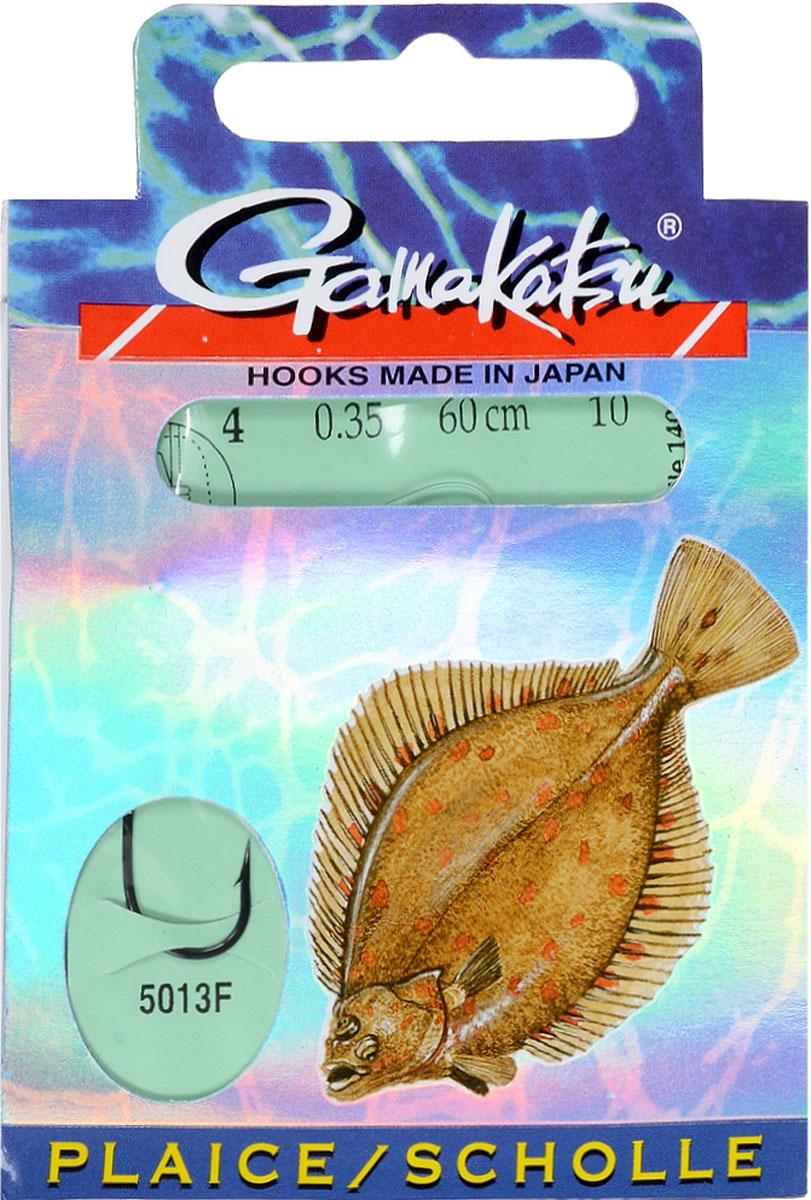 Крючок с поводком Gamakatsu BKD-5013F, длина поводка 60 см, толщина поводка 0,35 мм, размер крючка 4, 10 шт gamakatsu f 15 12