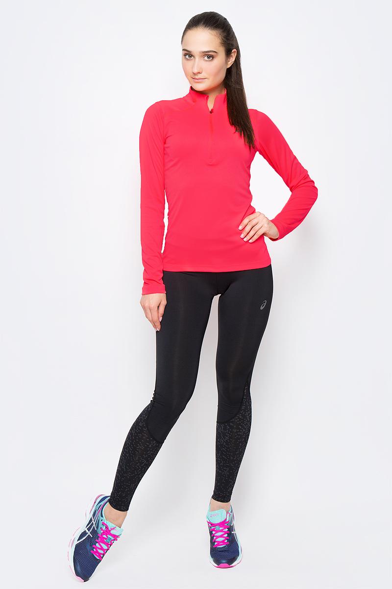 Лонгслив для бега женский  Asics LS 1/2 Zip Top, цвет: розовый. 134108-0688. Размер XS (40/42) nike лонгслив element 1 2 zip ls top yth