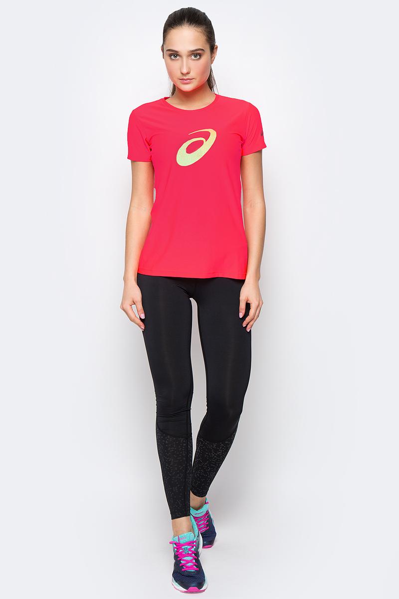 Футболка для бега женская Asics Graphic SS Top, цвет: ярко-розовый. 134105-0688. Размер S (42/44)