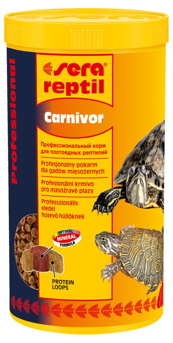 Корм для рептилий Sera Reptil Professional Carnivor, 1 л (330 г)1822Корм для рептилий Sera Reptil Professional Carnivor - комплексный корм для водных черепах и других плотоядных рептилий, произведенный методом коэкструзии. Инновационный коэкструдат объединяет в себе вкусную оболочку - кольцо, в котором содержатся высококачественные белки и жиры, и сердцевину, произведенную с помощью щадящего низкотемпературного процесса, сохраняющего ценные питательные вещества, с высоким содержанием необходимых витаминов, минералов и других жизненно важных веществ. Оптимальное соотношение кальция и фосфора обеспечивает здоровый рост костей и панциря животных. Инструкция по применению: Кормить экономно. Смешать со свежим кормом в соответствии с потребностями животных. Ингредиенты: рыбная мука, кукурузный крахмал, пшеничная клейковина, пшеничная мука, пивные дрожжи, цельный яичный порошок, рыбий жир, гаммарус, морские водоросли, зеленые мидии, криль, чеснок. Аналитический состав: протеин 37,4%, жиры 6,2%, клетчатка 5,6%, влажность 5,2%, зольные вещества 7,5%, кальций 2,0%, фосфор 1,0%.Витамины и провитамины: витамин A 37.000 МЕ/кг, витамин D3 1.800 МЕ/кг, витамин E (D, L-а-tocopheryl acetate) 120 мг/кг, витамин B1 35 мг/кг, витамин B2 90 мг/кг, витамин C (L-ascorbyl monophosphate) 550 мг/кг. Микроэлементы: Fe (E1) 10,9 мг/кг, Cu (E4) 0,5 мг/кг, Mn (E5) 0,3 мг/кг, Zn (E6) 10,4 мг/кг. Содержит пищевые красители, допустимые в ЕС. Товар сертифицирован.