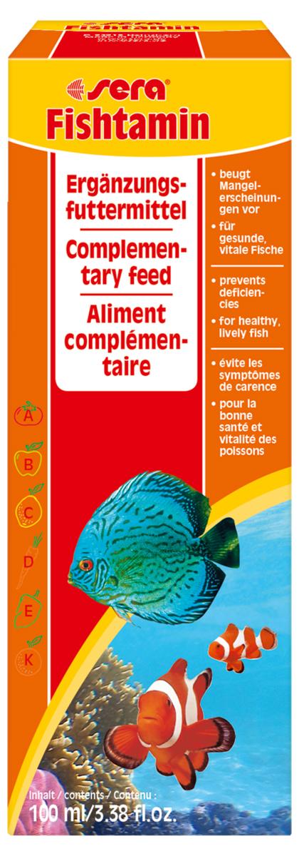 Витаминный препарат для рыб Sera Fishtamin, 100 мл емкость для топлива primus primus 1 0 л красный 1l