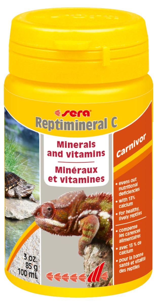Витаминно-минеральный препарат для рептилий Sera Reptimineral C, 100 мл (85 г)
