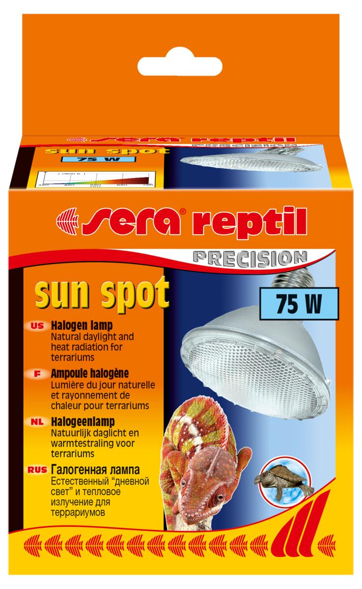 Лампа для террариума галогенная Sera Sun Spot, 75 Вт лампа галогенная philips h7 3200k vision 30% 1 шт 12972prc1