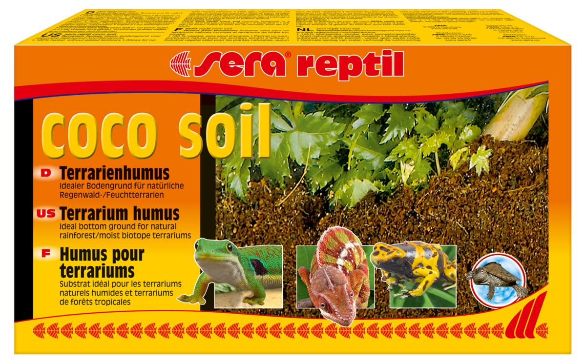 Грунт для террариума Sera Reptil Coco Soil, 8 л32042Грунт для террариума Sera Reptil Coco Soil из кокосового волокна предназначен для влажных террариумов. Добывается на кокосовых плантациях природного происхождения, без удобрений и добавок. Подвергается термической стерилизации, свободен от патогенных микроорганизмов и грибов. Идеально подходит для поддержания влажности в террариуме. Упаковка содержит 8 литров грунта.