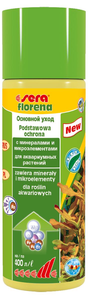 Удобрение для аквариумных растений Sera Florena, 100 мл3240Удобрение Sera Florena предназначено для ухода за теми аквариумными растениями, которые потребляют питательные вещества в основном через листья. Водные растения очень важны для обитателей аквариума, так как они потребляют из воды продукты обмена веществ рыб и питательные вещества, которые вызывают бурное развитие нежелательных водорослей. Удобрение обеспечивает аквариумные растения всеми необходимыми минералами и микроэлементами для здорового и пышного роста, благодаря чему растения могут выполнить эту задачу.Новая улучшенная формула содержит инновационные, особенно стабильные хелатные комплексы железа, которые остаются доступны даже при ежедневном использовании УФ-стерилизаторов. Продукт не содержит ни нитратов, ни фосфатов. Он безопасен для всех беспозвоночных. Комбинация sera florena и sera florenette отлично сбалансирована и оптимально соответствует всем требованиям различных аквариумных растений.