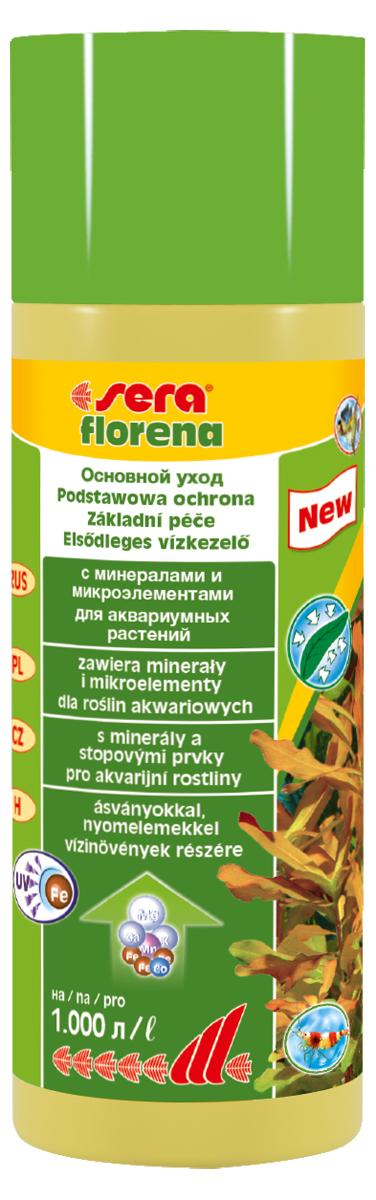 Удобрение для аквариумных растений Sera Florena, 250 мл3250Удобрение Sera Florena предназначено для ухода за теми аквариумными растениями, которые потребляют питательные вещества в основном через листья. Водные растения очень важны для обитателей аквариума, так как они потребляют из воды продукты обмена веществ рыб и питательные вещества, которые вызывают бурное развитие нежелательных водорослей. Удобрение обеспечивает аквариумные растения всеми необходимыми минералами и микроэлементами для здорового и пышного роста, благодаря чему растения могут выполнить эту задачу.Новая улучшенная формула содержит инновационные, особенно стабильные хелатные комплексы железа, которые остаются доступны даже при ежедневном использовании УФ-стерилизаторов. Продукт не содержит ни нитратов, ни фосфатов. Он безопасен для всех беспозвоночных. Комбинация sera florena и sera florenette отлично сбалансирована и оптимально соответствует всем требованиям различных аквариумных растений.