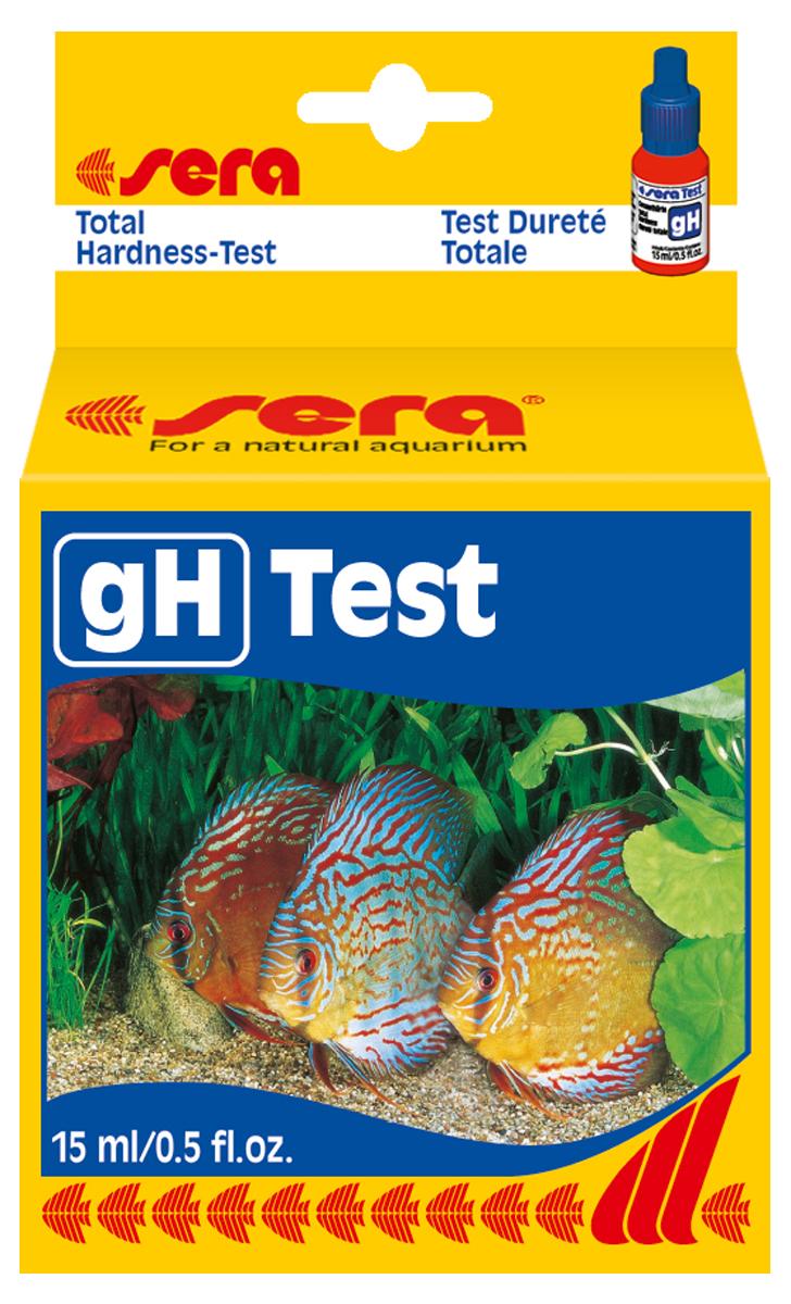 Тест для воды Sera gH-Test, 15 мл4110Жидкий тест для воды Sera gH-Test предназначен для определения общей жесткости в пресноводном аквариуме. Во флаконе находится примерно 420 капель реагента (одна капля реагента соответствует одной единице общей жесткости в пробе тестируемой воды).