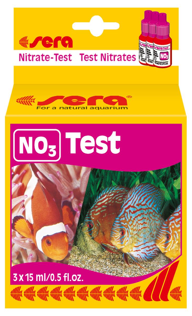 Тест для воды Sera NO3-Test, 15 мл, 3 шт средство для воды sera baktopur direct 24 таблетки
