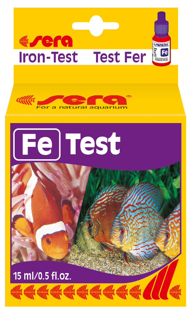 Тест для воды Sera Fe-Test, 15 мл средство для воды sera baktopur direct 24 таблетки