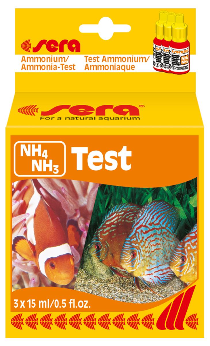 Тест для воды Sera NH4/NH3-Test, 15 мл. 3 шт тест sera ph тест для воды 15 мл