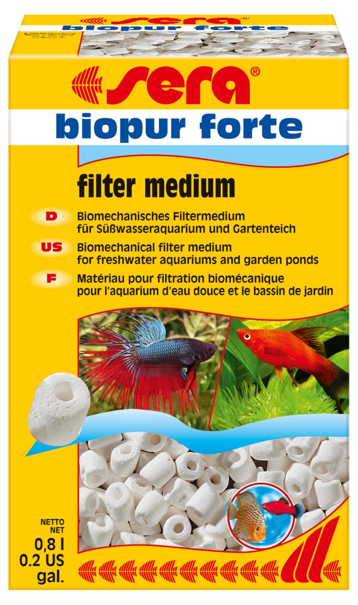 Наполнитель биологический для фильтра Sera Biopur Forte, 800 мл8422Наполнитель биологический Sera Biopur Forte предназначен для биологической и механической фильтрации во всех пресноводных аквариумах. Высокая пористость наполнителя создает оптимальные условия для жизни нитрифицирующих бактерий и других микроорганизмов. Наполнитель следует тщательно промыть (без применения моющих средств) перед первым использованием.