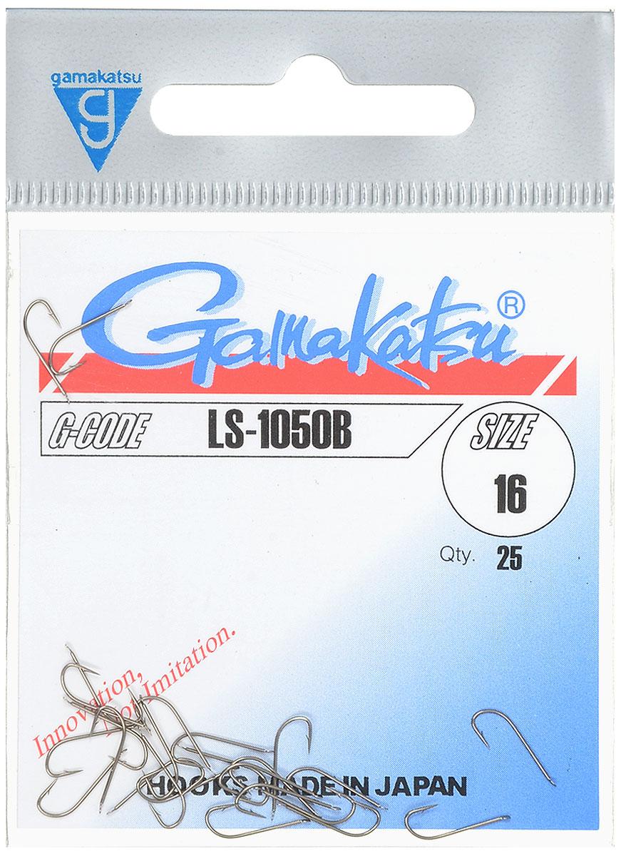 Крючок рыболовный Gamakatsu LS-1050B, №16, 25 шт14651701600Рыболовный крючок Gamakatsu LS-1050B изготовлен из стали, подходит для ловли плотвы.Крючок Gamakatsu LS-1050B - это крючок с лопаткой, удлиненным цевьем и острым изгибом. Выполненные из высококачественной стали, крючки на 20% надежнее и мощнее по сравнению с большинством аналогов.Размер крючка: №16. Вид крепления: лопатка.Количество штук в упаковке: 25 штук.