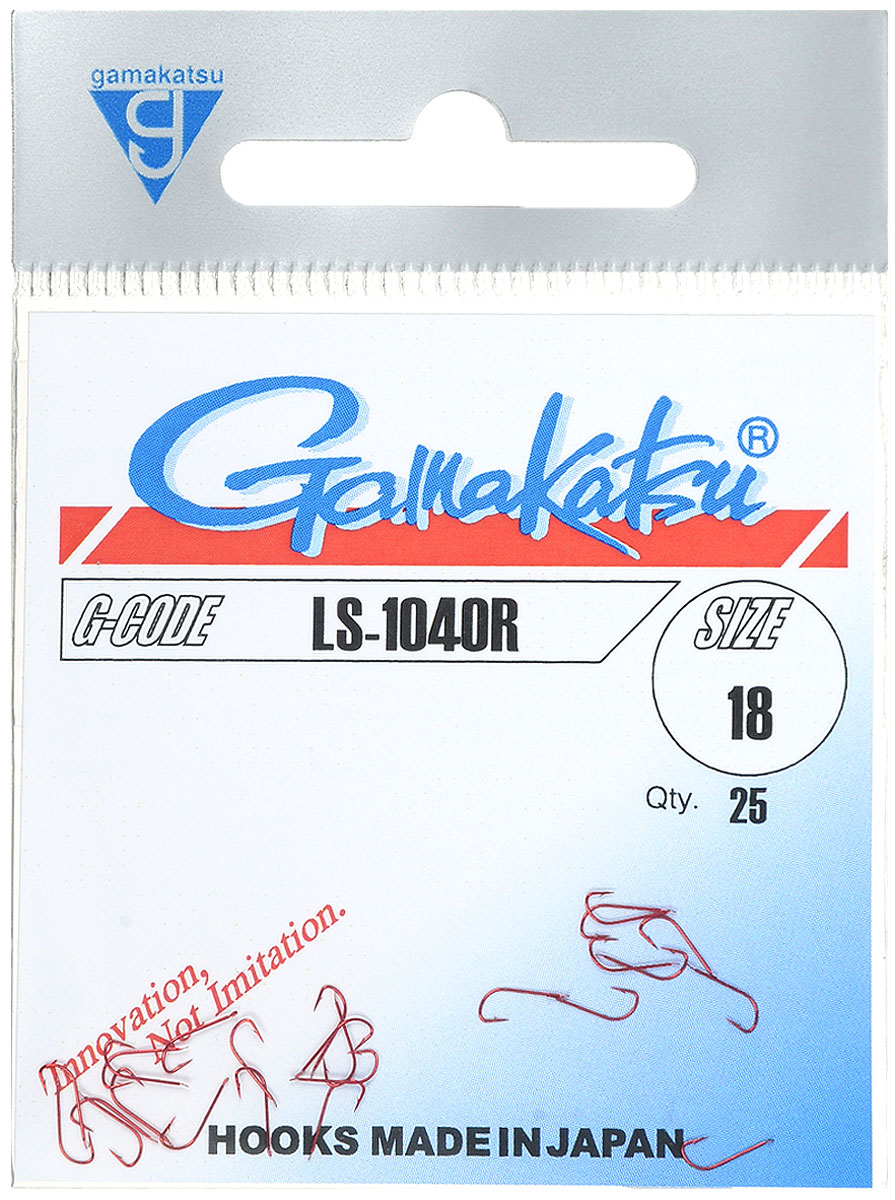 Крючок рыболовный Gamakatsu LS-1040R, №18, 25 шт