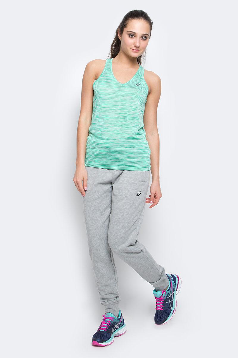 Майка для бега женская Asics Fuzex Layering Tank, цвет: зеленый. 142322-0470. Размер M (44/46) футболка asics футболка ss layering top