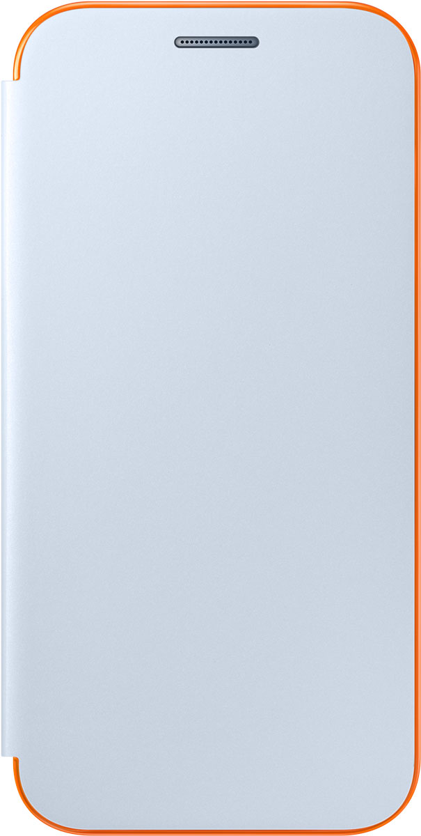 Samsung EF-FA320 FlipCover Neon чехол для Galaxy A3 (2017), BlueEF-FA320PLEGRUЧехол Neon Flip Cover создан для качественной защиты смартфона Samsung Galaxy A3 (2017) с учетом его особенностей. Он плотно прилегает к девайсу и защищает от пыли и царапин. Чехол выполнен из материалов высокого качества, приятен на ощупь, не увеличивает габаритов смартфона, подчеркивая его тонкую форму и современный стиль.