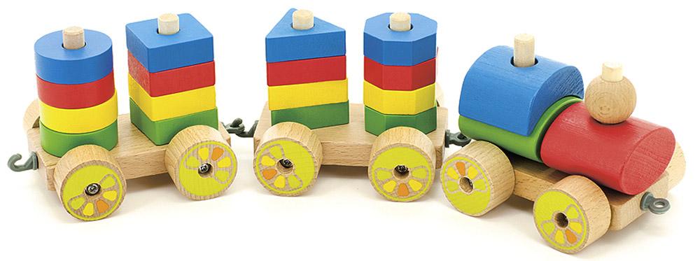 Мир деревянных игрушек Игрушка-каталка Паровозик паровозик д163 мир деревянных игрушек