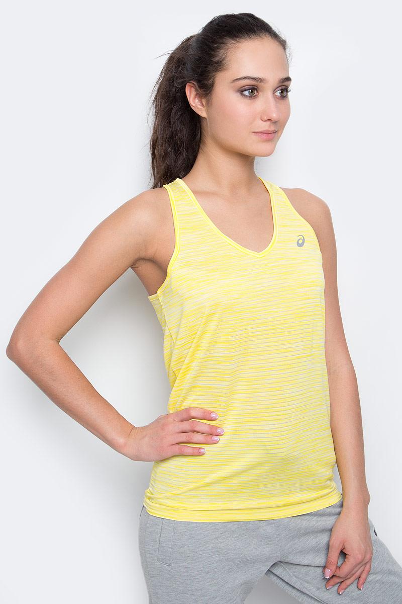 Майка для бега женская Asics Fuzex Layering Tank, цвет: желтый. 142322-0343. Размер XL (50/52) бриджи asics бриджи fuzex knee tight
