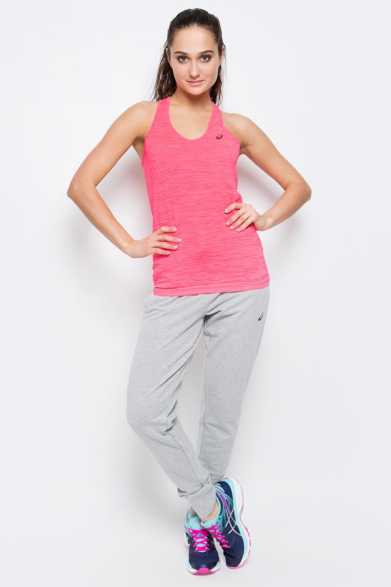 Майка для бега женская Asics Fuzex Layering Tank, цвет: розовый. 142322-0688. Размер L (46/48) футболка для фитнеса женская asics layering top цвет ярко розовый 136042 0688 размер s 42 44