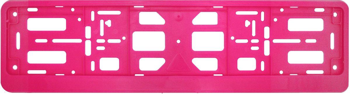 Рамка номерного знака Триада Classic, цвет: розовый10213Рамка-книжка под автомобильный номер Триада Classic изготовлена из высококачественного полипропилена. Универсальное расположение отверстий позволяет устанавливать рамку на любых автомобилях, включая американские и японские. Элементы фиксации, расположенные по всему периметру рамки номера, дают возможность без каких-либо усилий крепить в ней номерной знак.