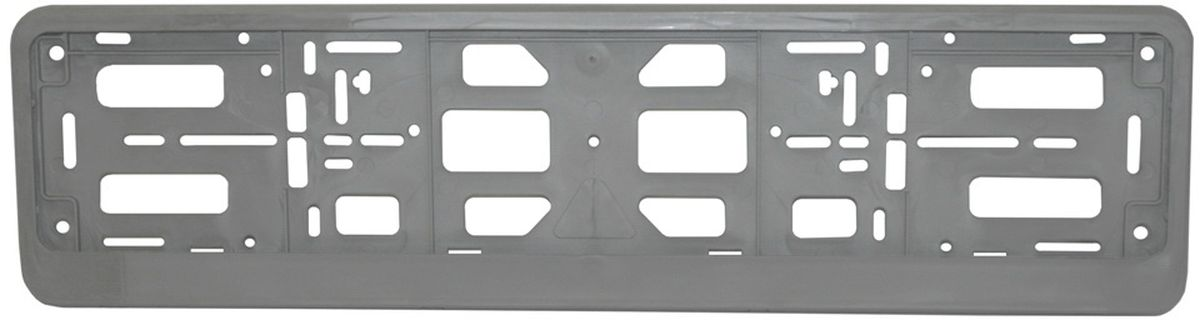Рамка номерного знака Триада Lux, цвет: серебристый03577Рамка-книжка под автомобильный номер Триада Lux изготовлена из высококачественного полипропилена. Универсальное расположение отверстий позволяет устанавливать рамку на любых автомобилях, включая американские и японские. Элементы фиксации, расположенные по всему периметру рамки номера, дают возможность без каких-либо усилий крепить в ней номерной знак.