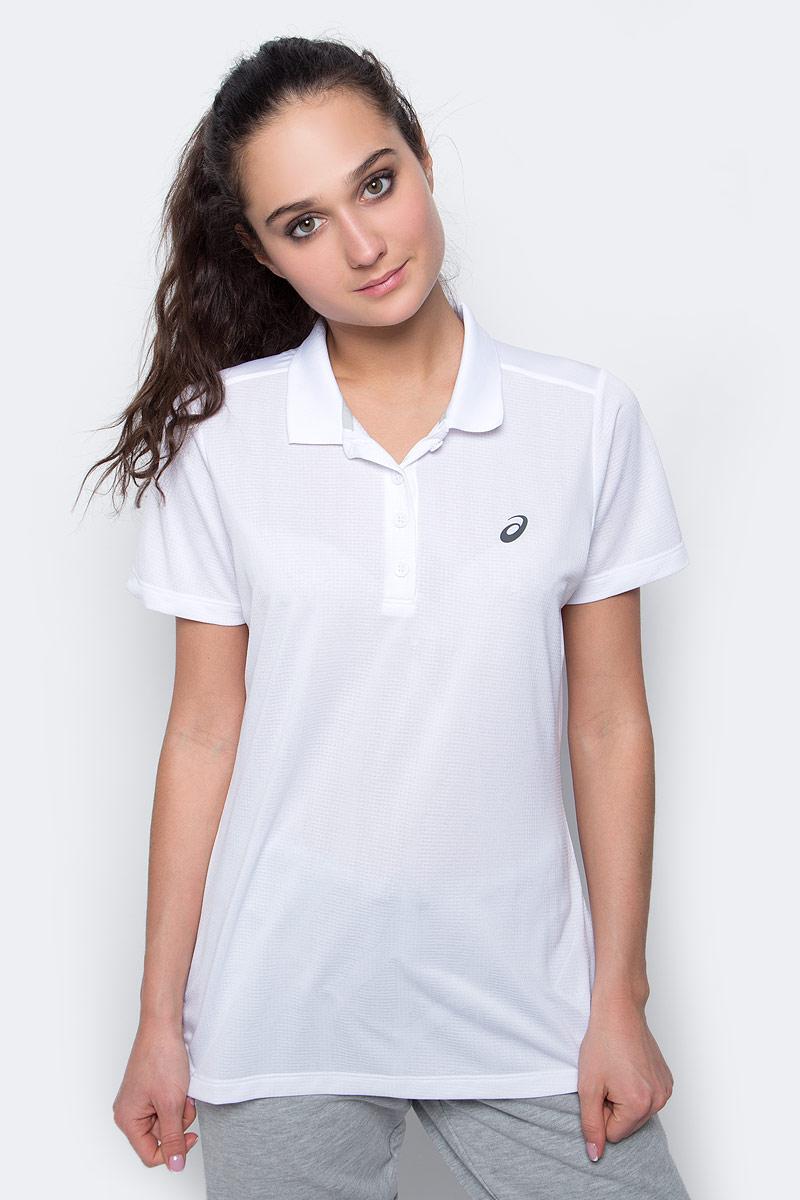 Поло женское Asics GPX SS Polo, цвет: белый. 141155-0001. Размер S (42/44)